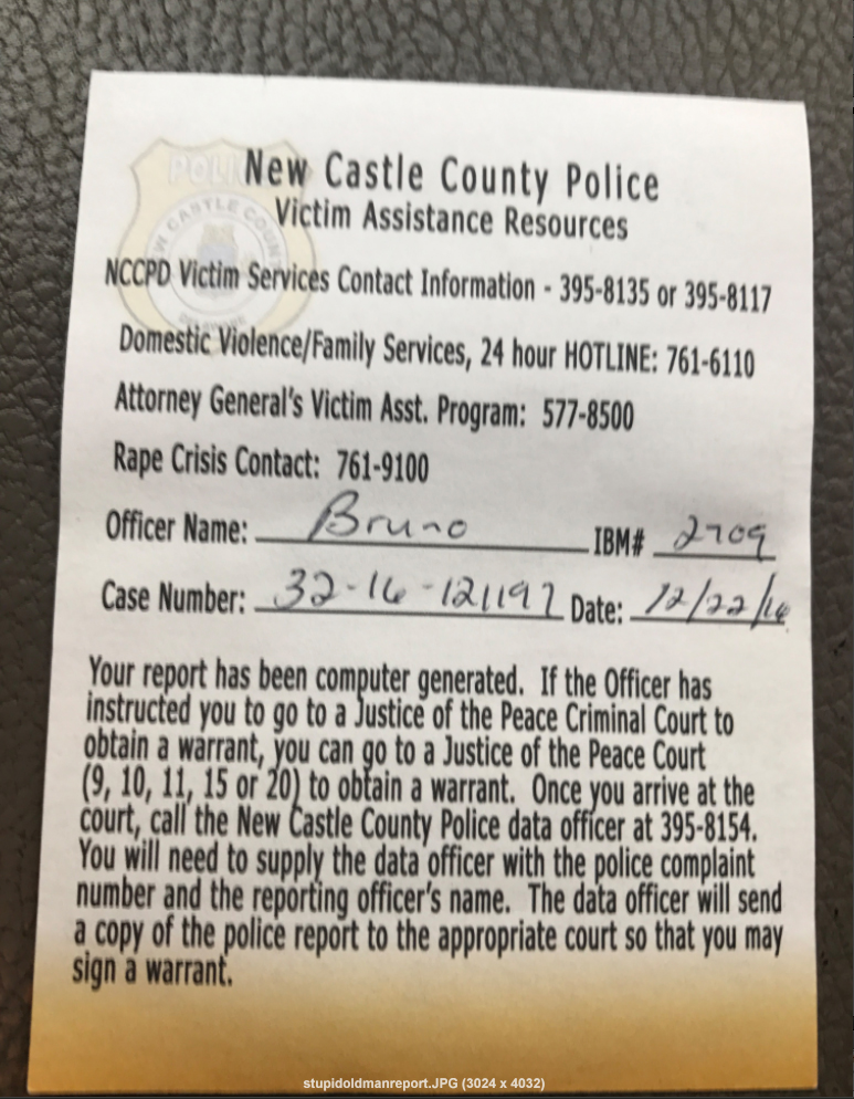 POLICE REPORT !